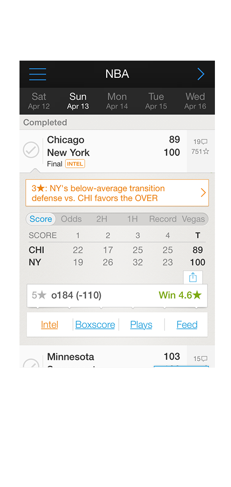 Onside Sports - Scores & Odds, The Complete App for Sports